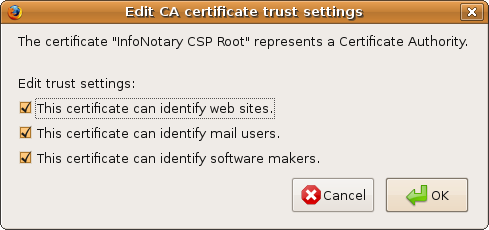Firefox linux CA certificate trust settings.png